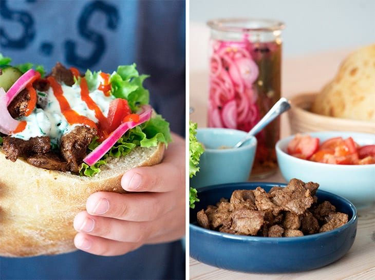 hjemmelavet kebab sharwarma