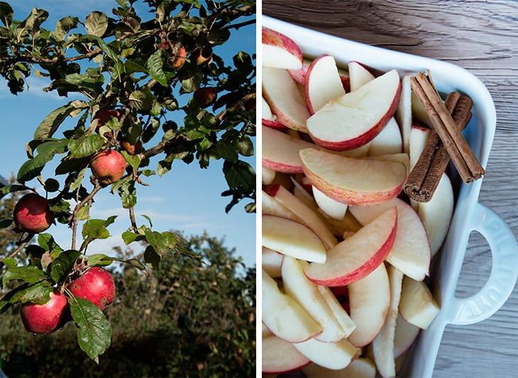 crumble æble