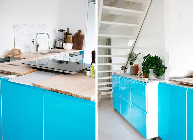 køkken før og efter