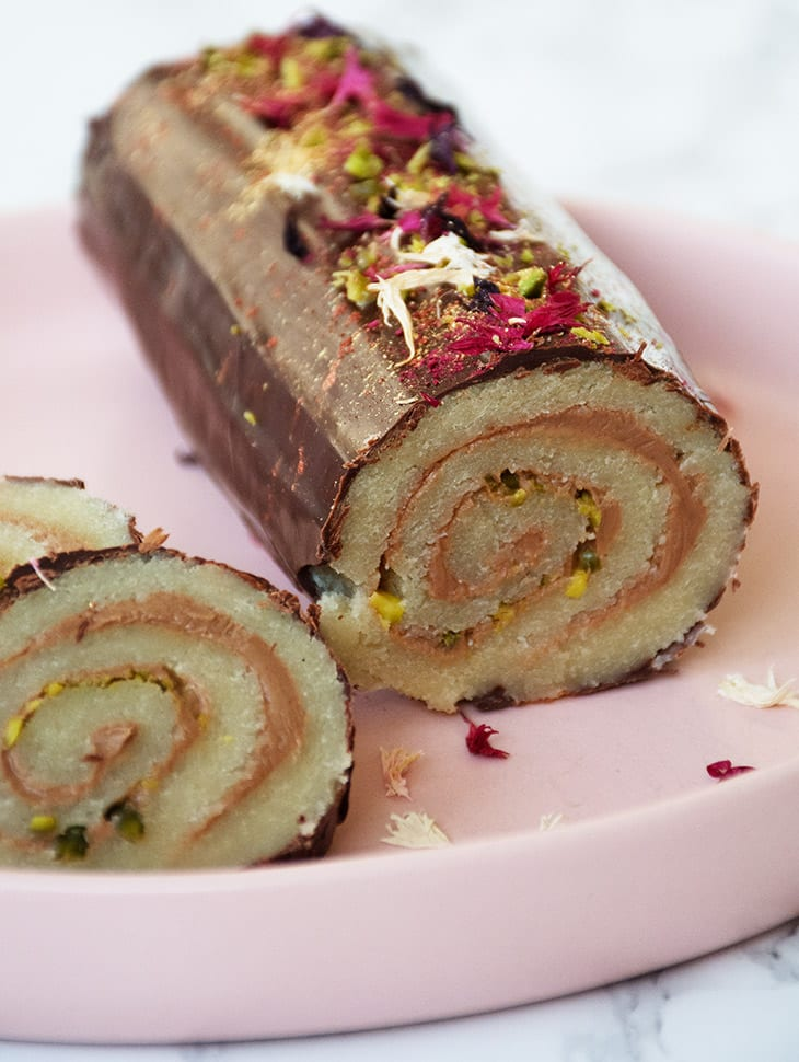 marcipanroulade med bailey