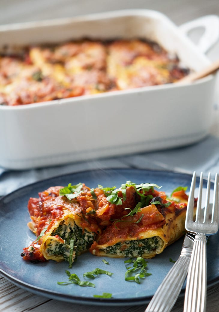 cannelloni spinat ricotta opskrift