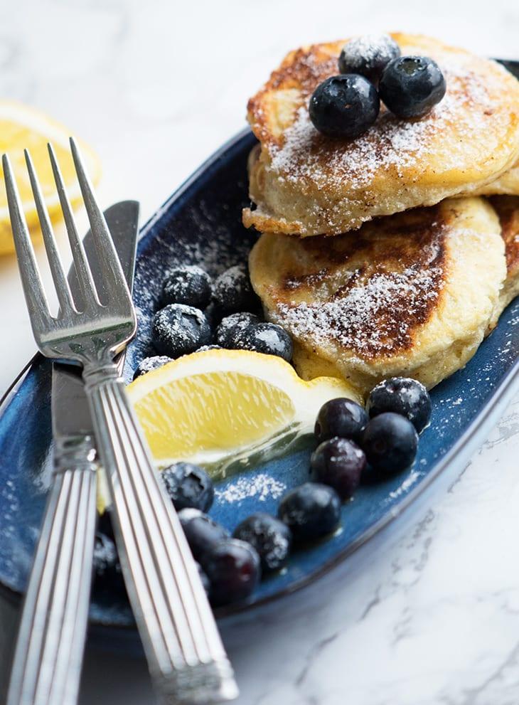 Ricotta pandekager med citron