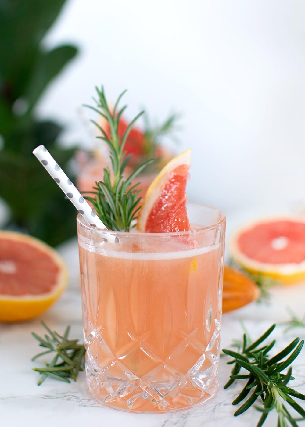 pink grape cocktail