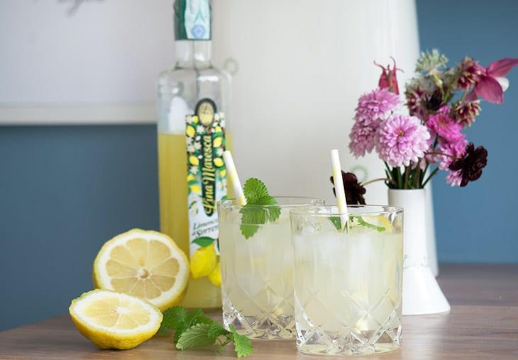 Limoncello cocktail – med gin og mynte
