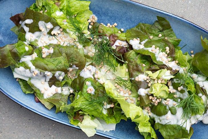 enkel grøn salat