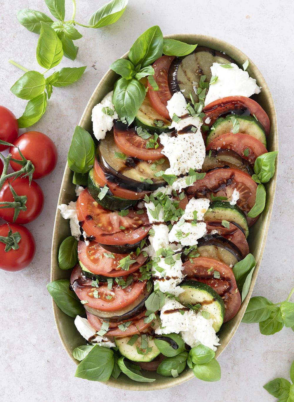salat grillet aubergine