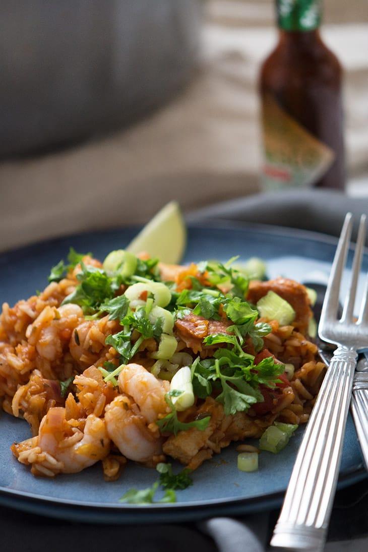 risotto med svampe chorizo