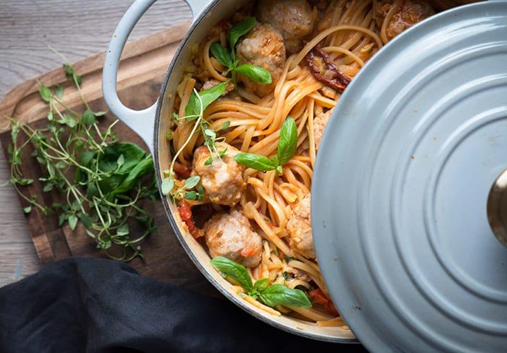 one pot pasta kødboller
