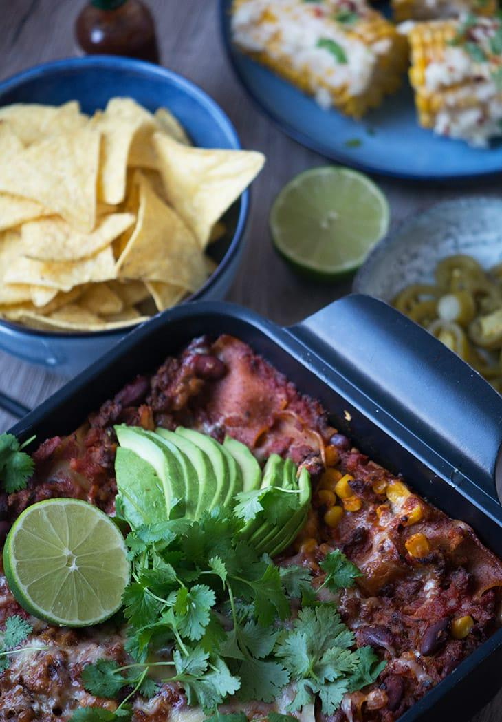 mexicansk lasagne opskrift