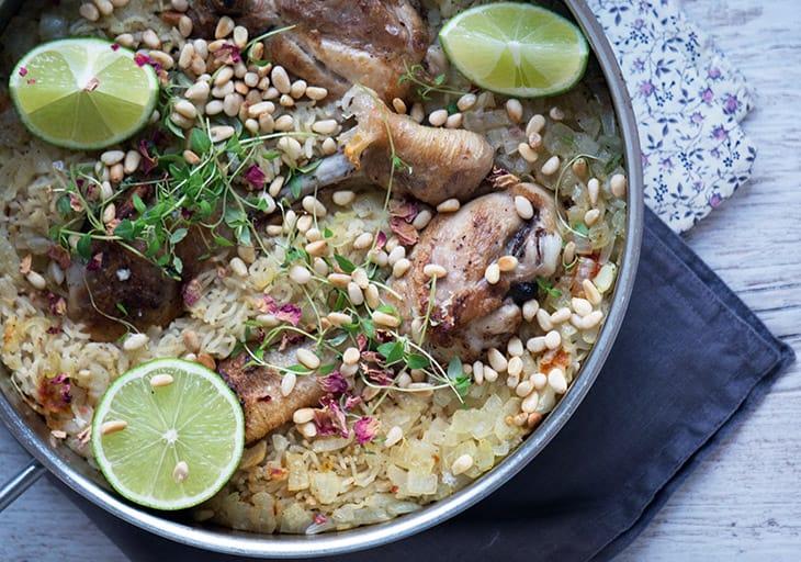 Andebryst med ris