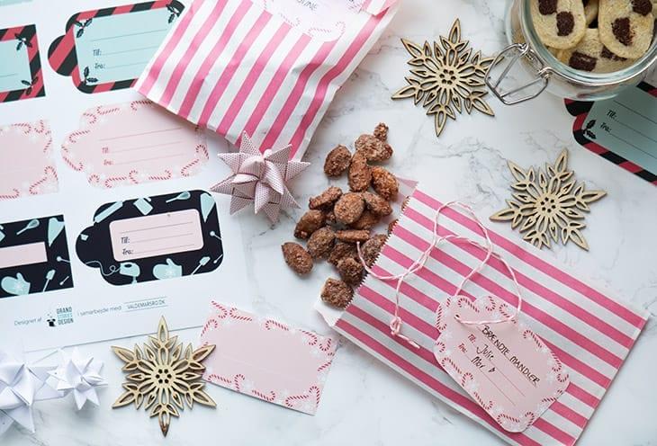 labels til hjemmelavede julegodter