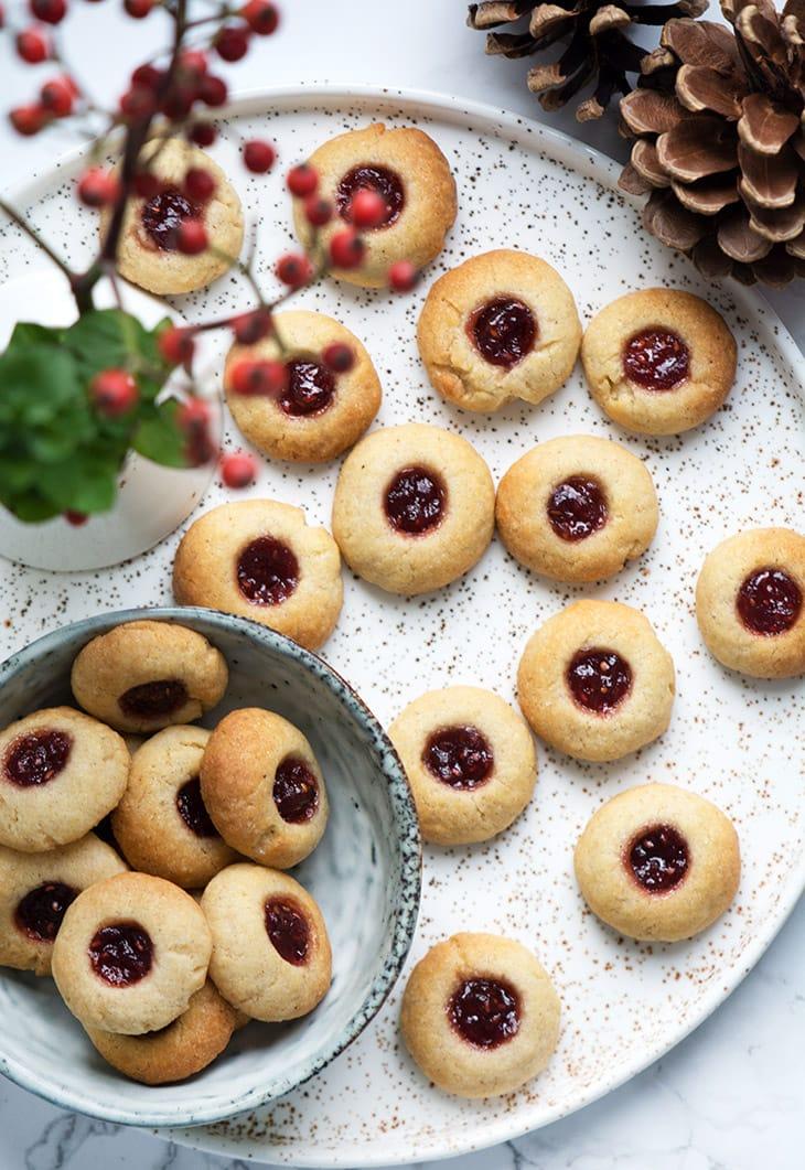 småkager med marmelade