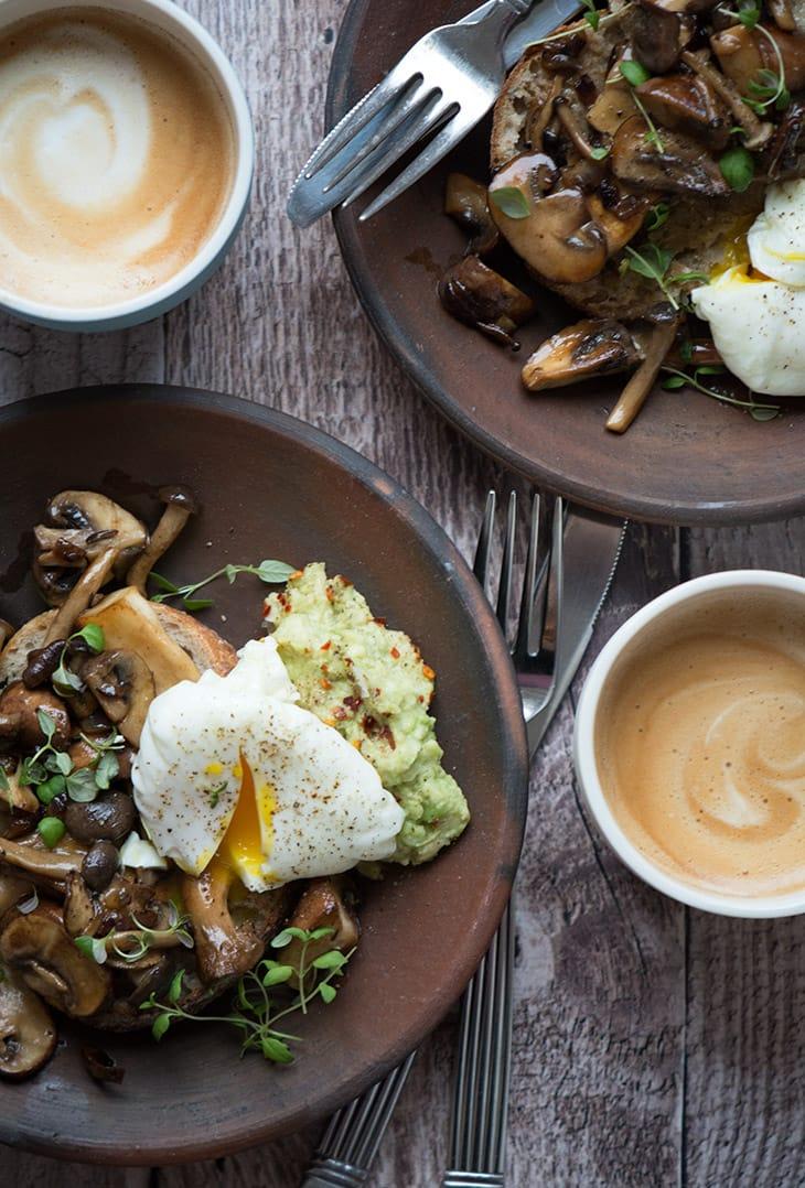 svampe porcherede æg
