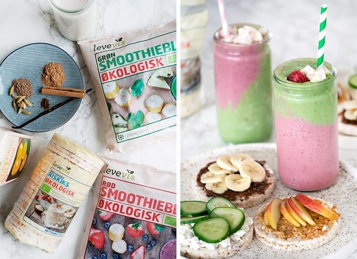 Pink grøn smoothie