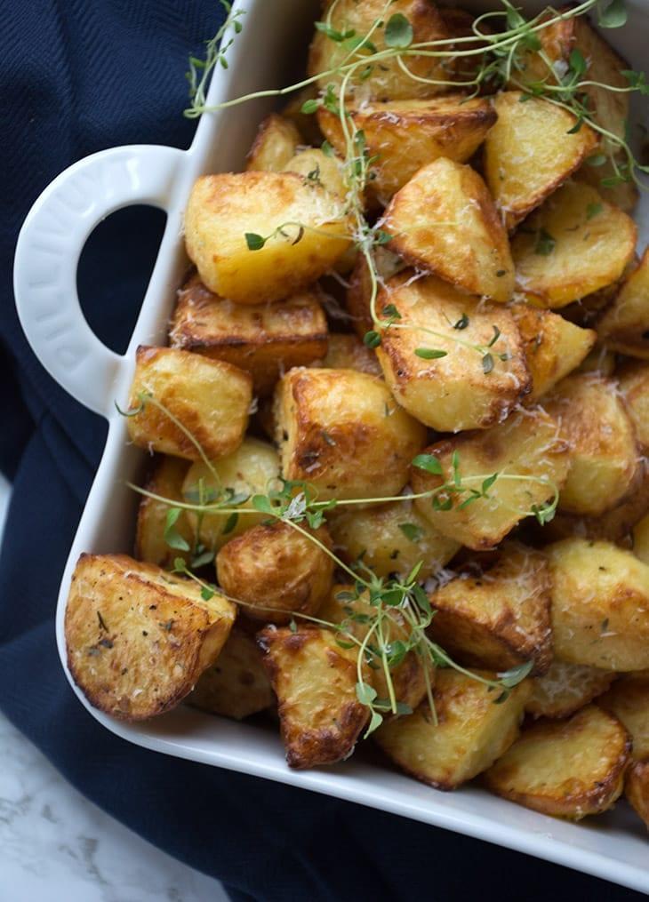 råstegte kartofler ovn