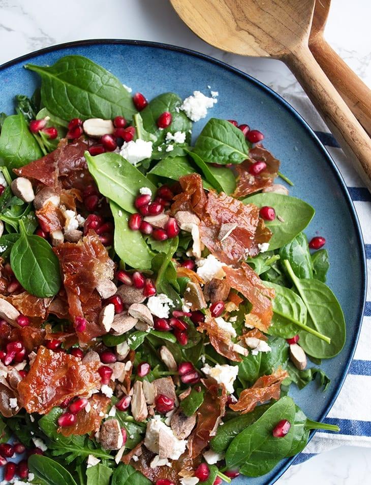 spinatsalat med feta