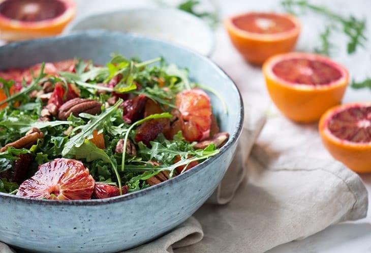 blodappelsin salat opskrift