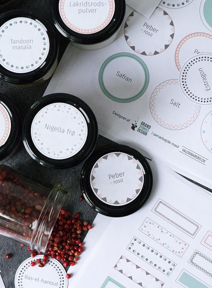 krydderi labels