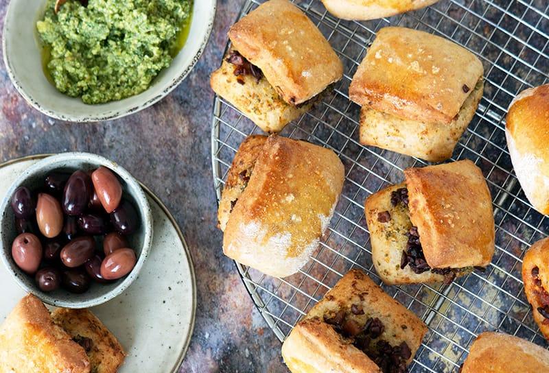 madbrød oliven