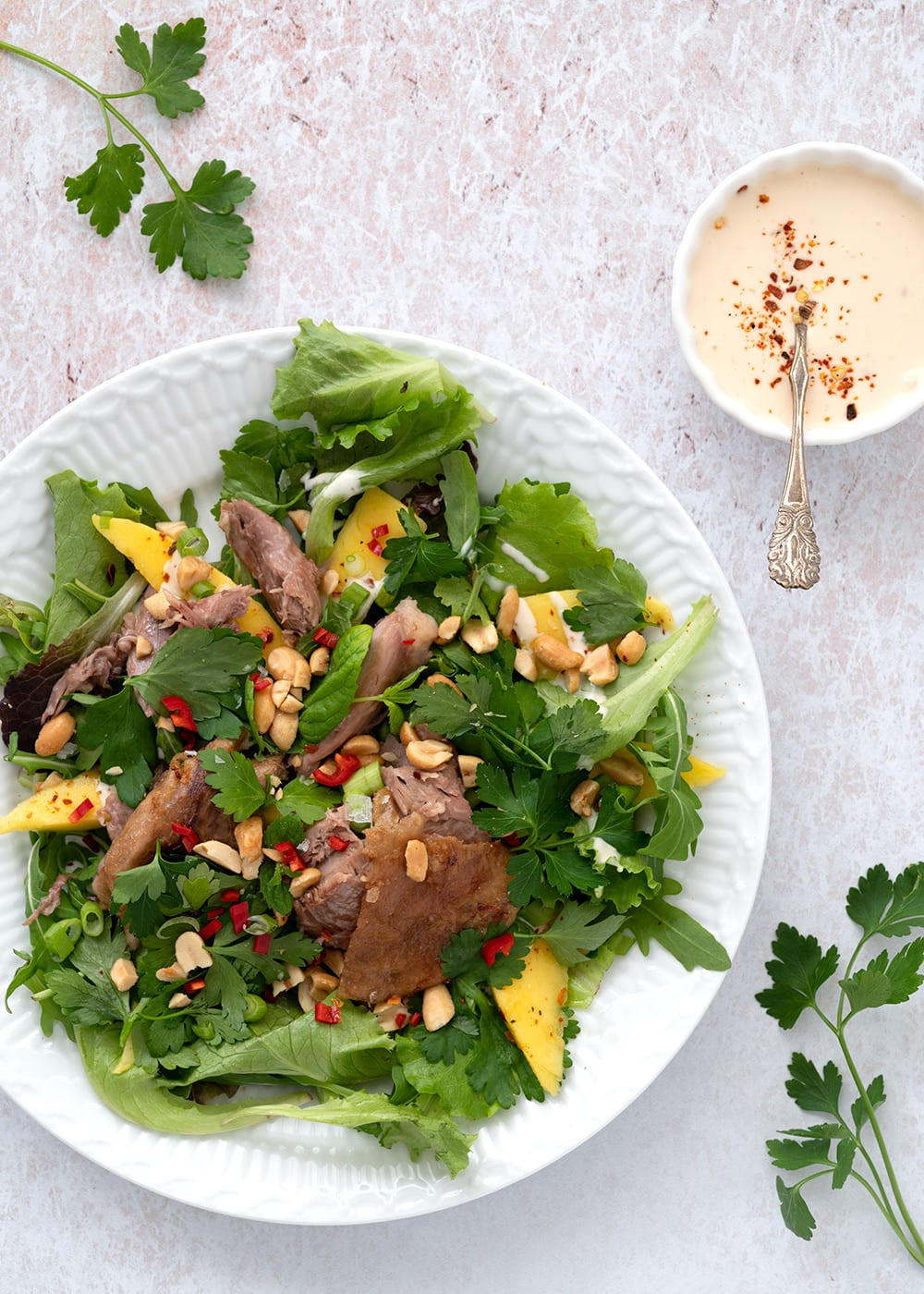 salat med and og mango