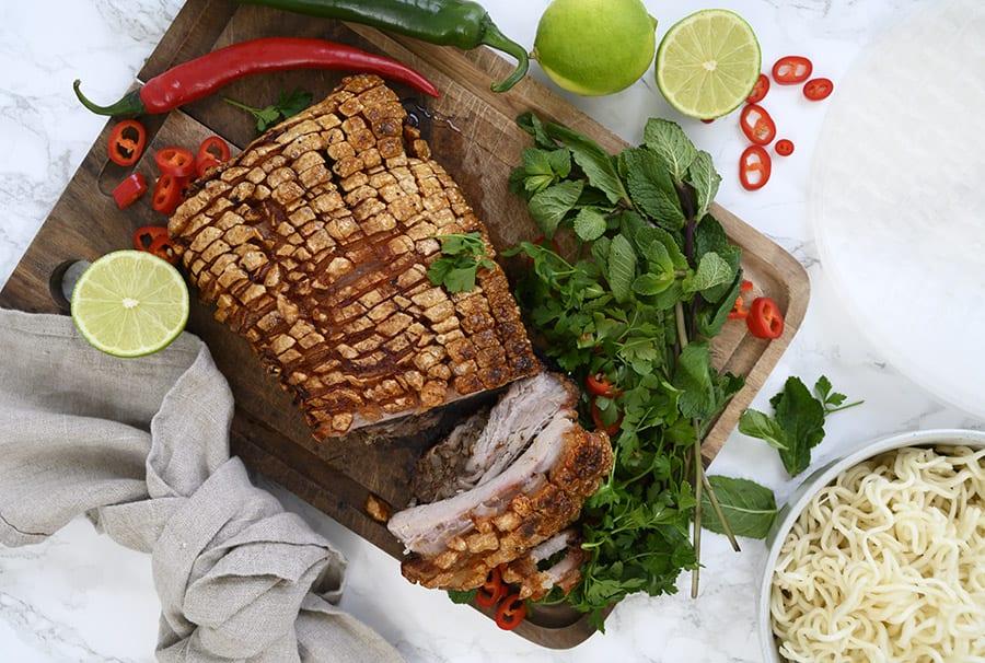 Vietnamesisk ribbensteg - lækker at servere til forårsruller eller suppe