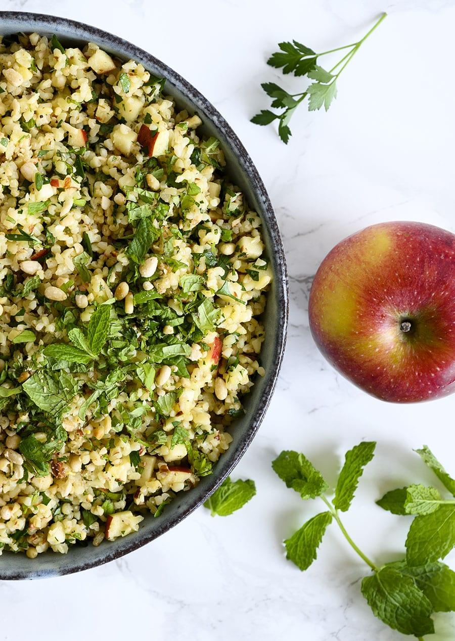 bulgur og æble salat