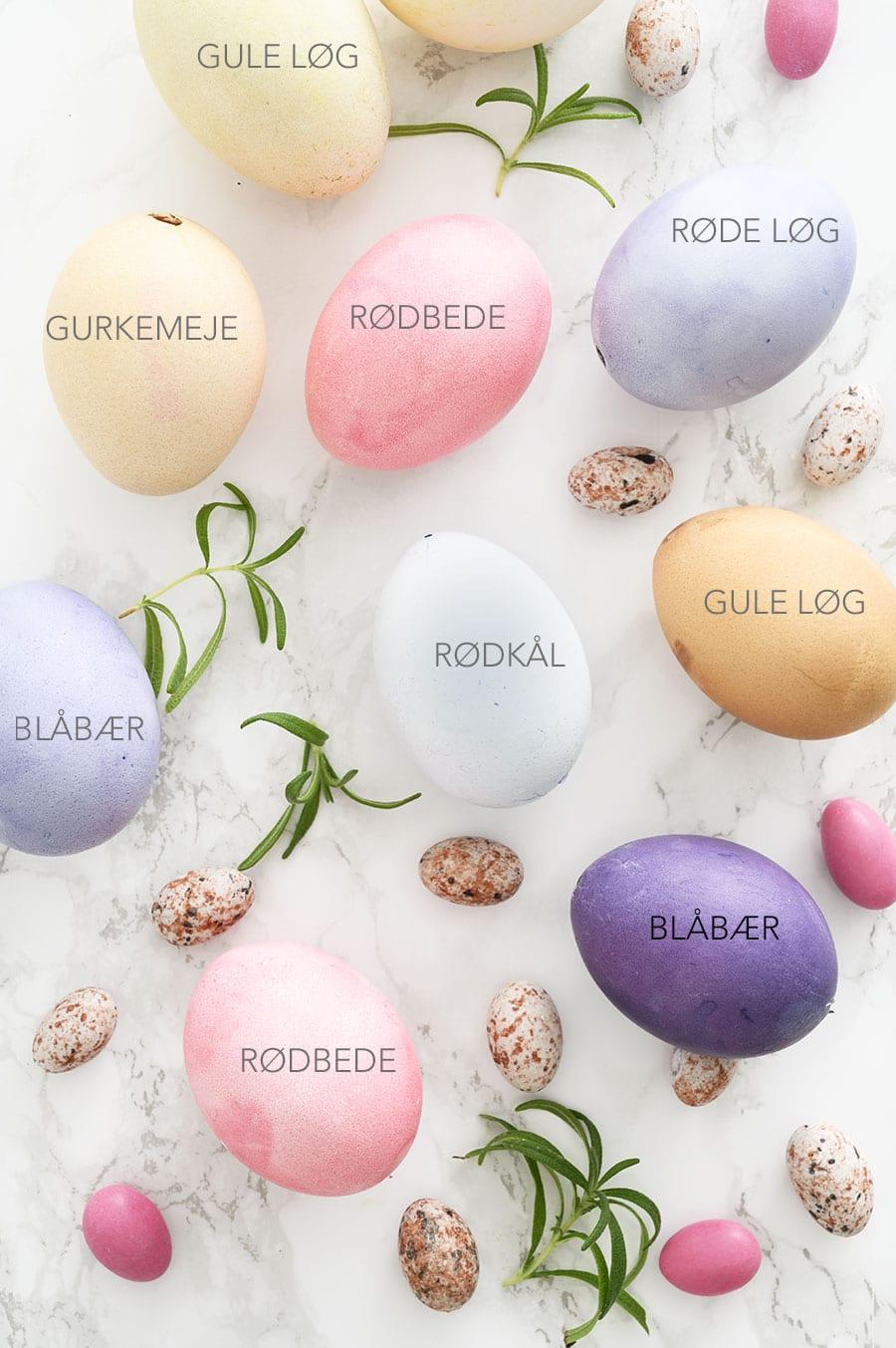 farve æg
