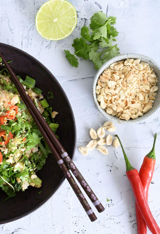 Pad thai med grøntsager