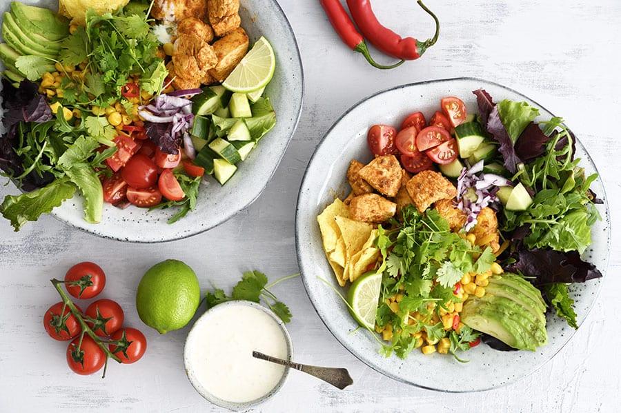 lækker salat til kylling