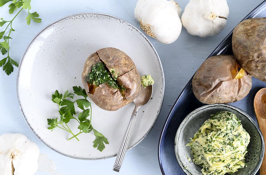 Bagte kartofler - her får du en skøn opskrift på bagte kartofler