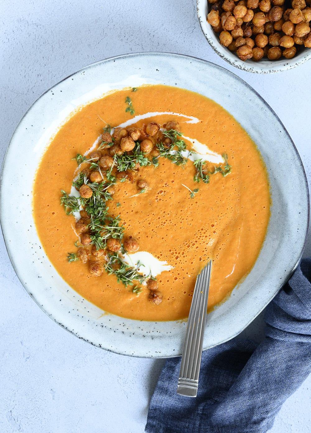 grillet grøntsagssuppe