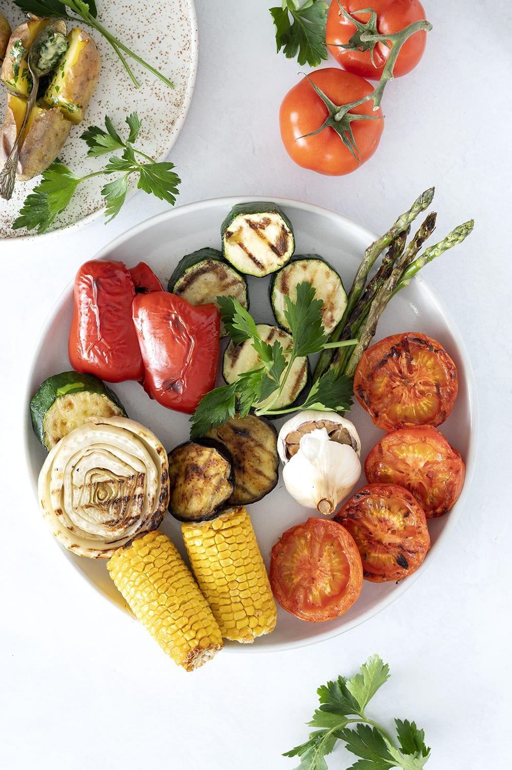 grøntsager på grill