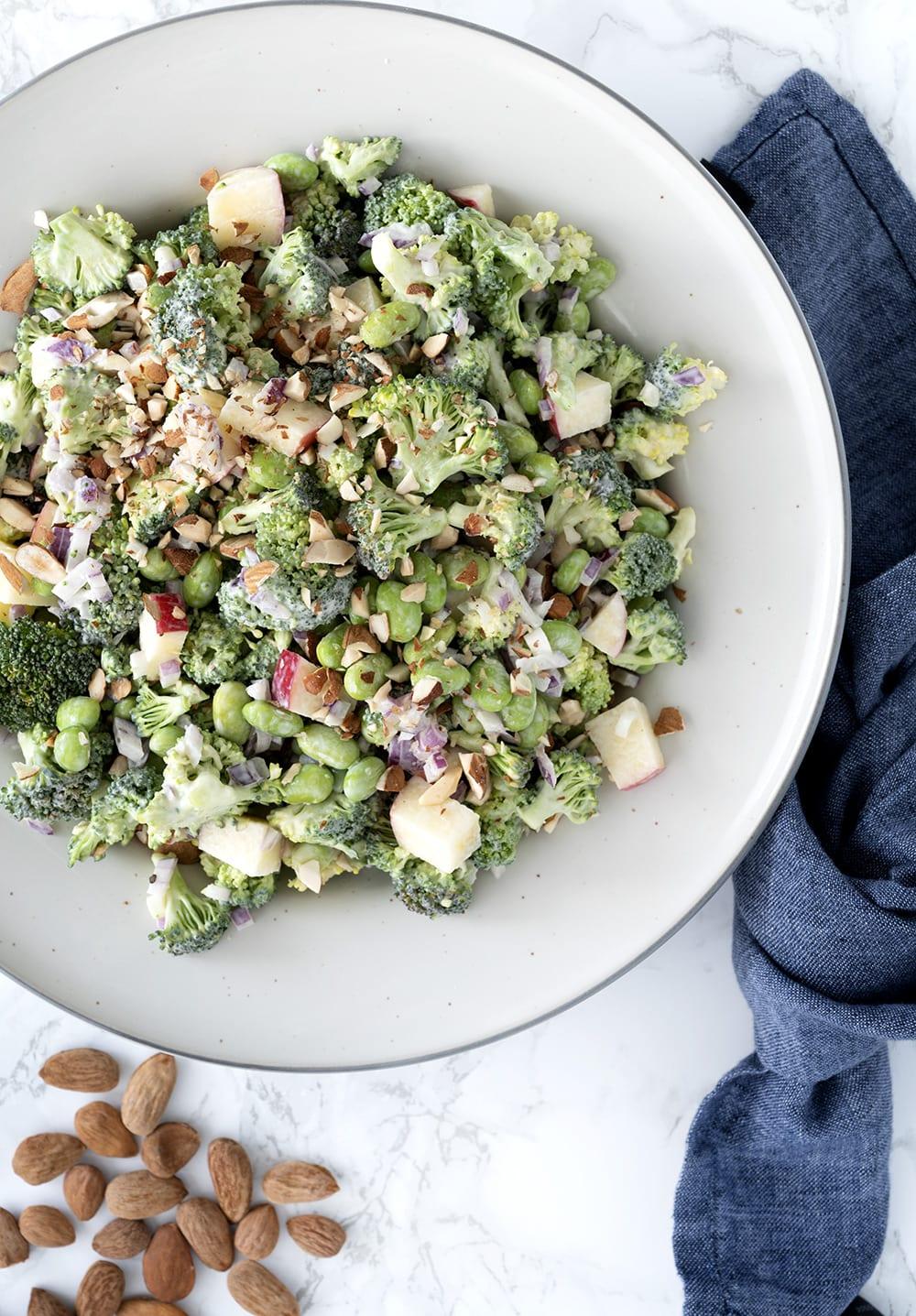 cremet broccoli med edamame