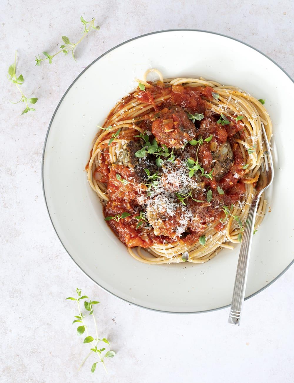vegetar spaghetti tomatsauce