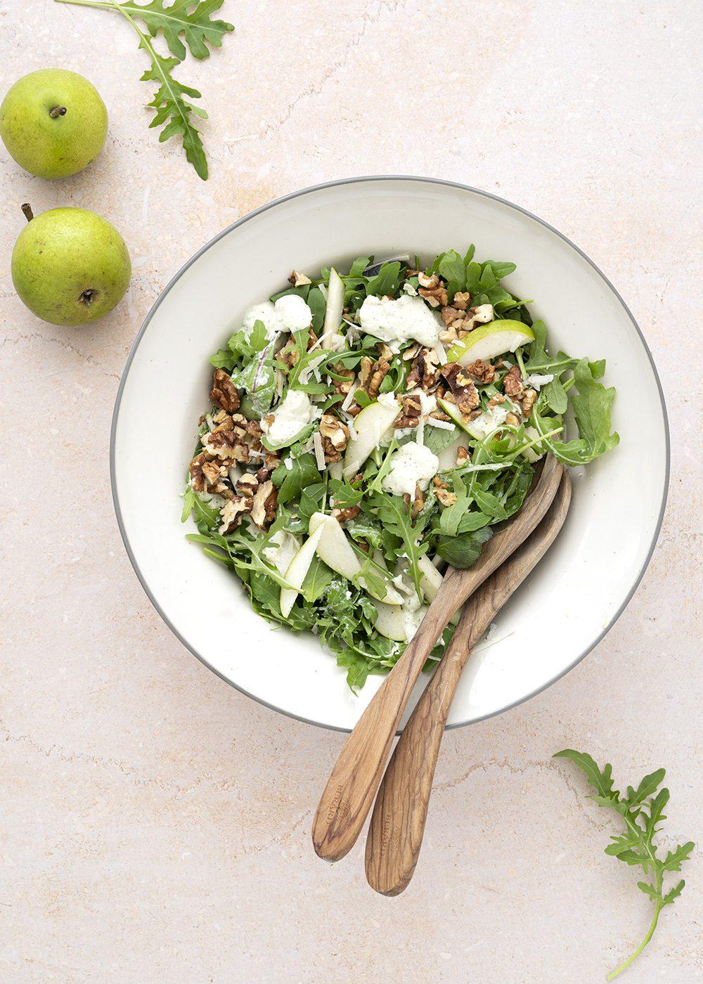 grøn salat pære