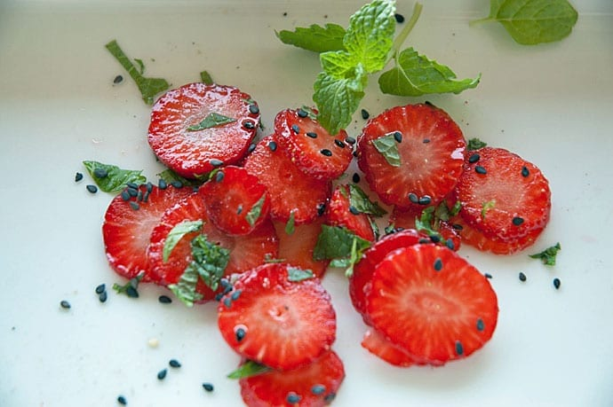 Jordbærdessert uden sukker