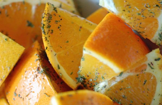 Andesteg med appelsin, timian og vanilje