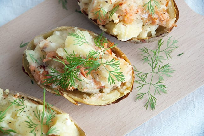 Bagte kartofler med fyld