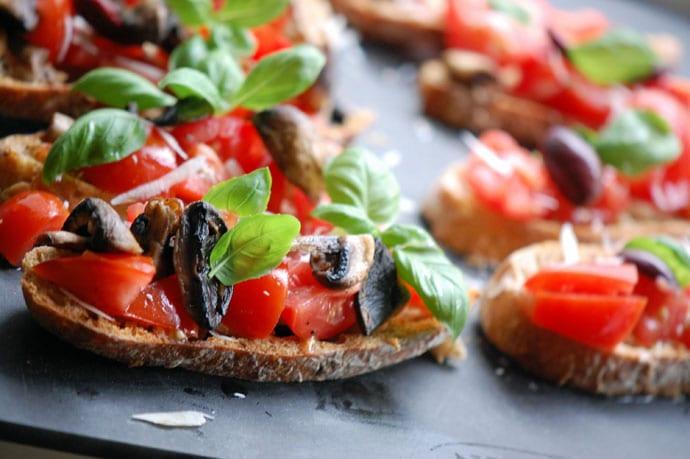 bruschetta med tomat