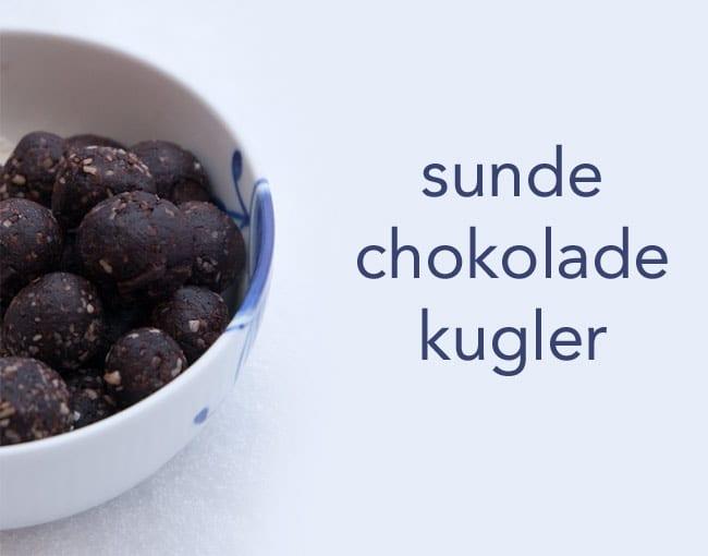Sunde chokolade kugler