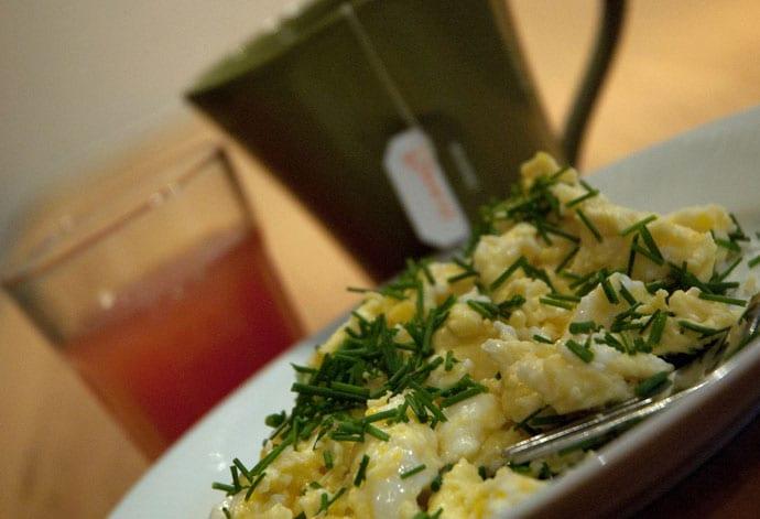Scrambled eggs til morgenmad
