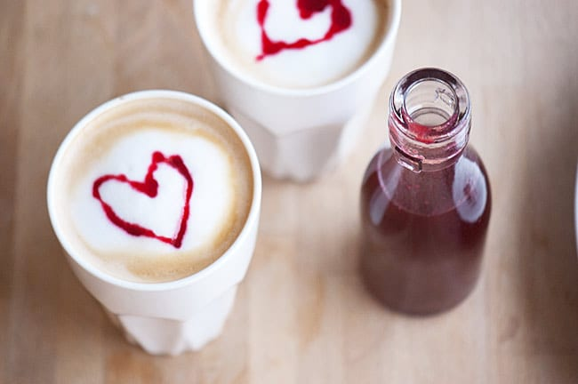 Hindbærsirup med vanilje