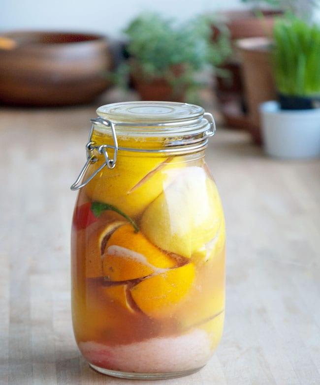Saltede citroner og andre citrusfrugter